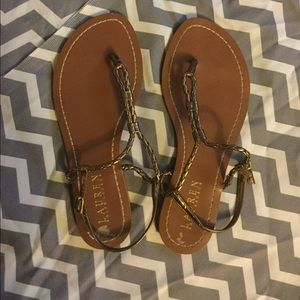 Ralph Lauren braided sandals. 6.5b